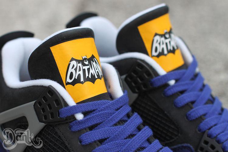 huge selection of 2884c 4ec75 Air Jordan 4 Batman Custom