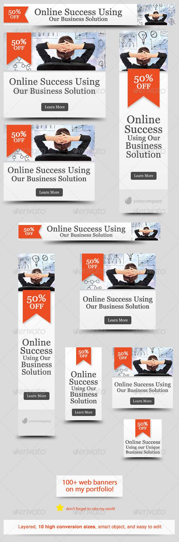 Corporate Web Banner Design Template 29 | Web banner design and ...