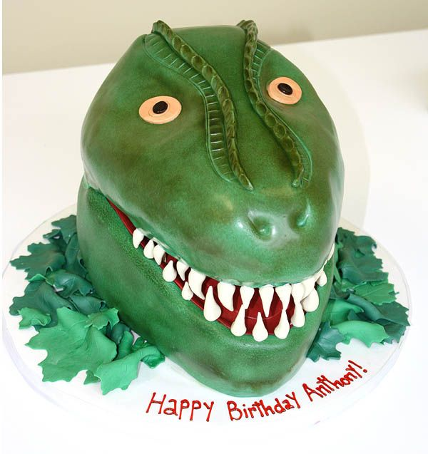 TRex Cake by CakeSuite Westport CT Dinosaur cakes Pinterest
