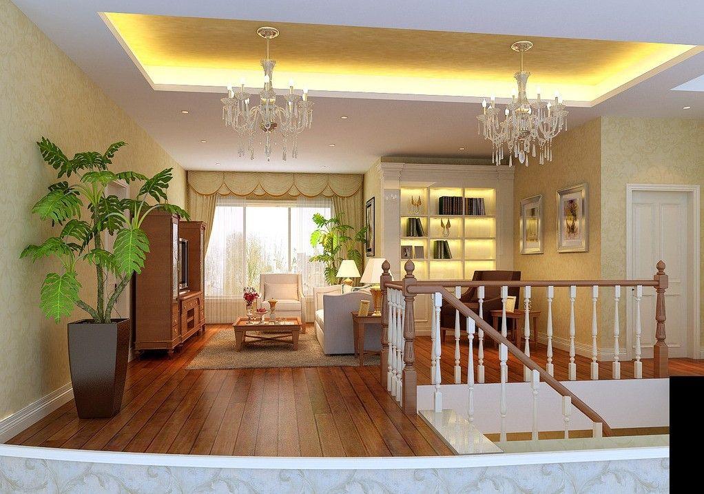 Ceiling Design Ideas -- Yellow ceiling, white false ...