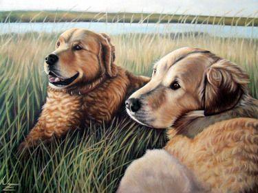 """Saatchi Online Artist Nicole Zeug; Painting, """"Two Golden"""" #art"""