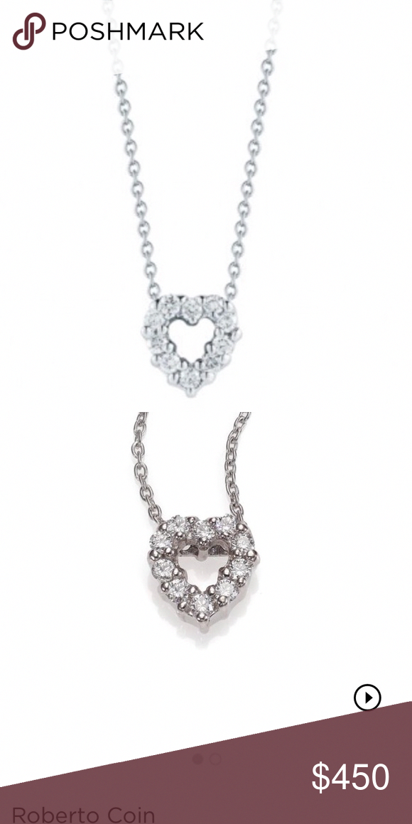 24dbd0ee486 Roberto coin heart diamond necklace So simple and elegant. Diamond heart  necklace. I absolutely love this necklace. Just looking to sell for a larger  ...