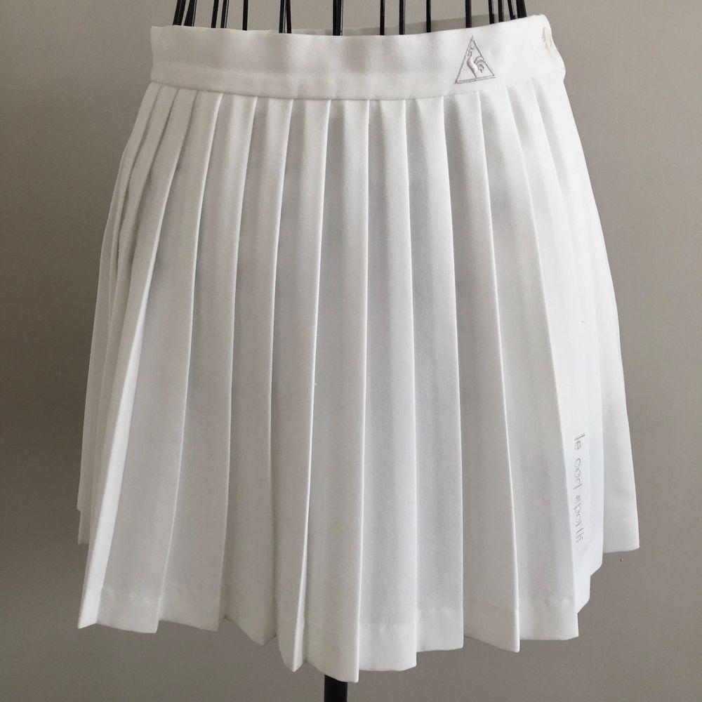 cb1cb30a5d5e Vintage Le Coq Sportif Classic Pleated White Tennis Skirt Schoolgirl Mini  Size 6  LeCoqSportif  Pleated