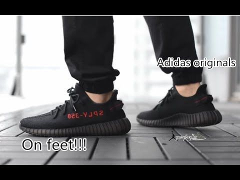 21739ed7ef4 Final Version Adidas Yeezy Boost 350V2 Bred Unboxing Review from yeezyb.