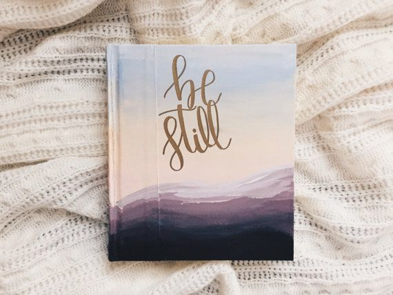 Hand Painted Bible Mountain Sunset By Inhisnameco On Etsy