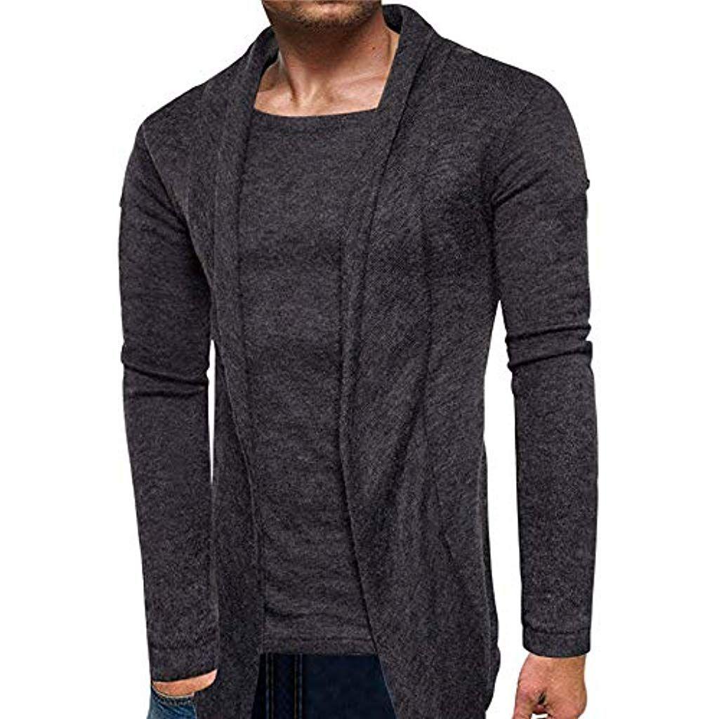 Battnot Herren Strickjacke Pullover Langarm Männer Mode