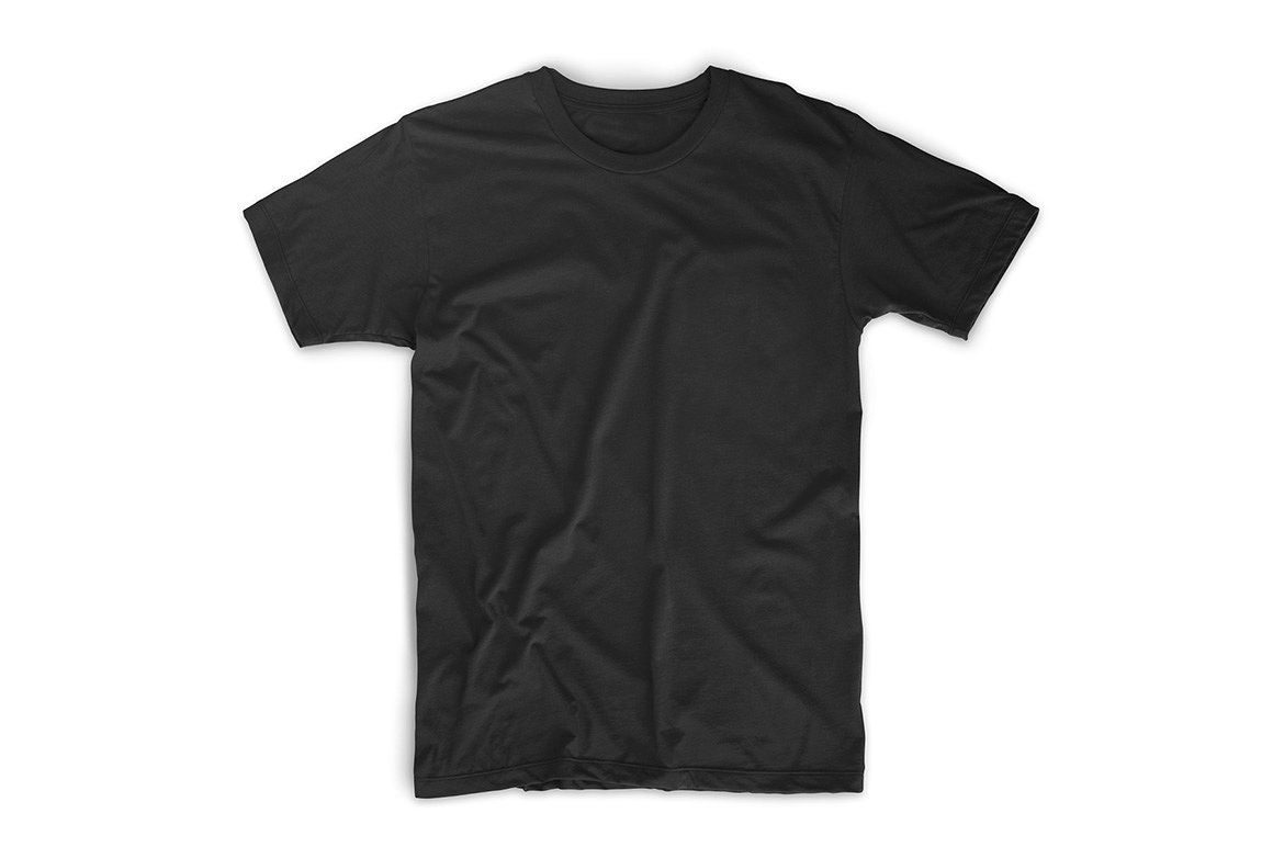 Realistic T Shirt Templates Kaos Hitam Pakaian Kasual Pria