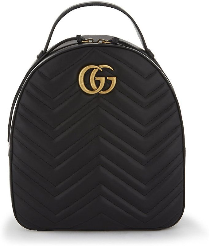 f1c1a11ad03b Gucci GG Marmont quilted leather backpack Denim Backpack, Backpack Bags,  Leather Backpack, Fashion