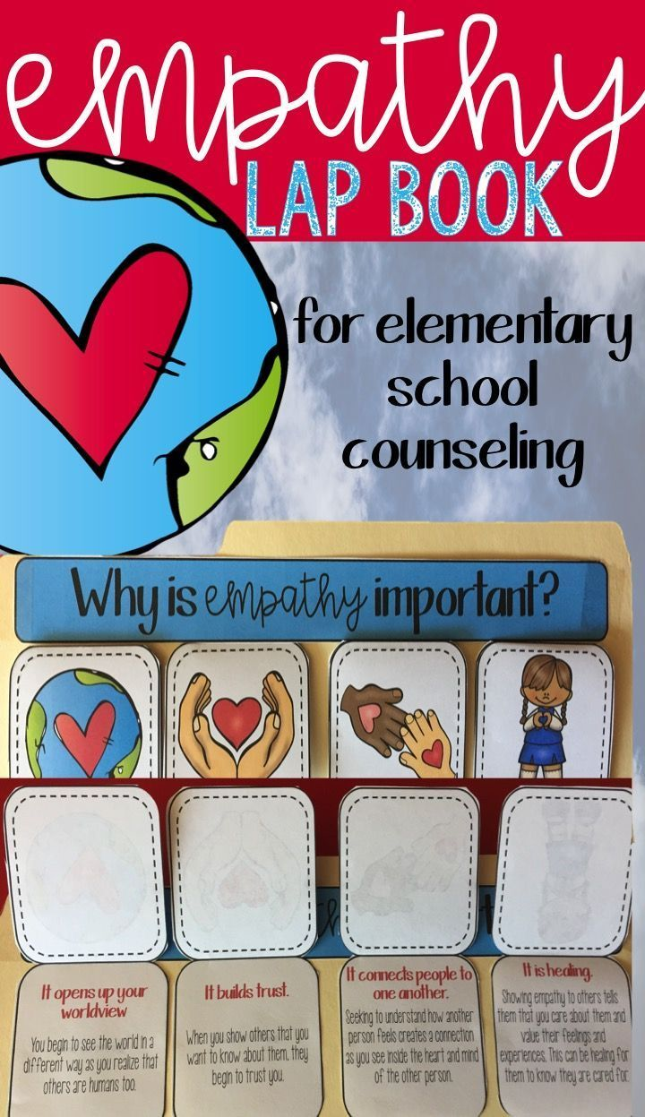 Empathy Lap Book For Elementary School Counseling Child