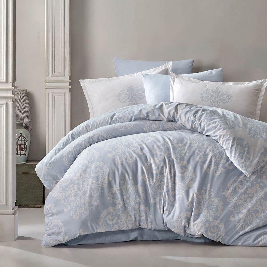 طقم غطاء لحاف سادين مزدوج سماوي مزخرف عدد القطع 6 Duvet Cover Sets Double Duvet Covers Cotton Duvet Cover