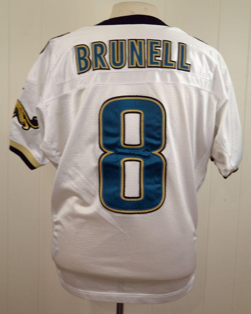 3f0df3a3635 Nike Jacksonville Jaguars  8 Mark Brunell NFL Football Jersey White Sewn  sz. 44  Nike  JacksonvilleJaguars