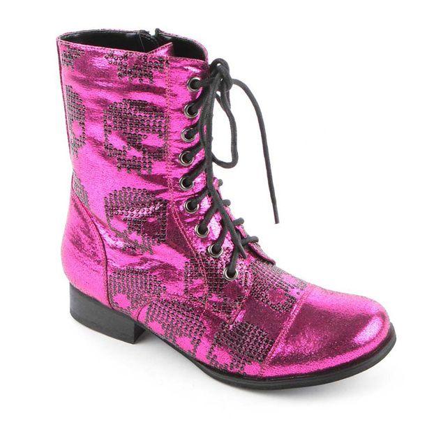Iron Fist Damen Schuhe Ruff Rider Combat Boot Pink