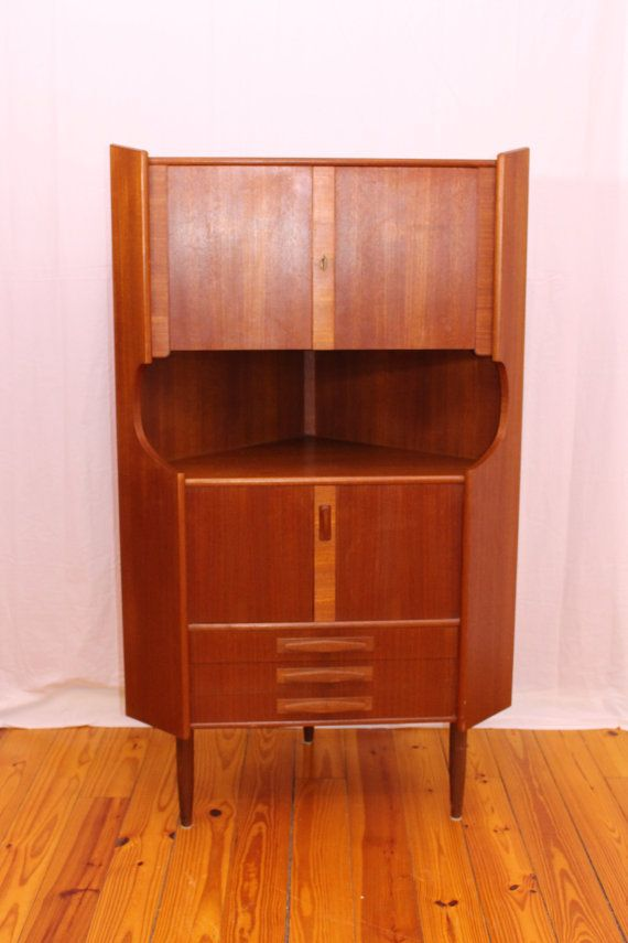 Danish Mid Century Modern Corner Cabinet By IndreByDesign On Etsy
