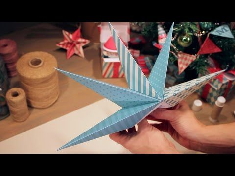 81) How to make a Paper Christmas Star? - YouTube   Origami easy ...   360x480