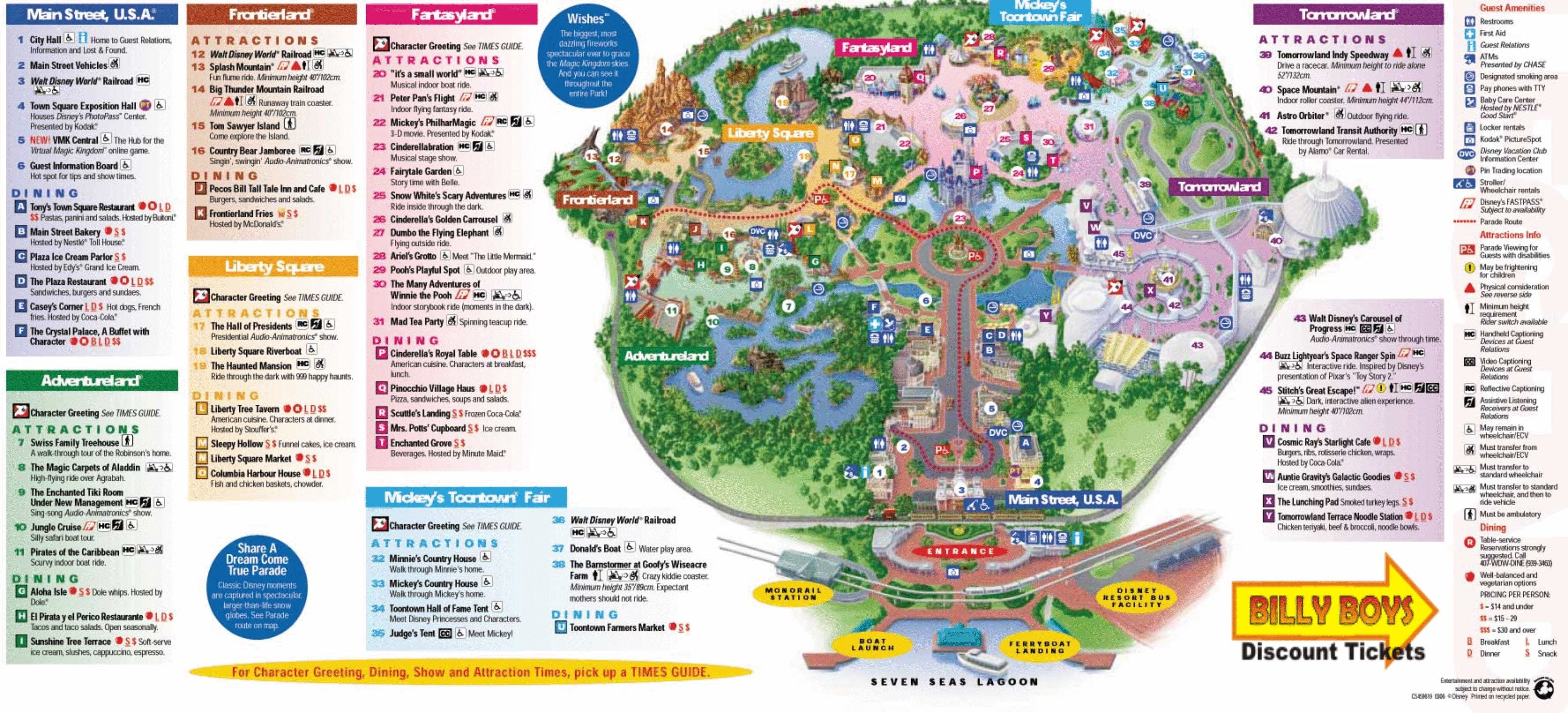 Orlando Tourist Map Pdf Walt Disney World Map Pdf #1 | Disney | Disney map, Disney world