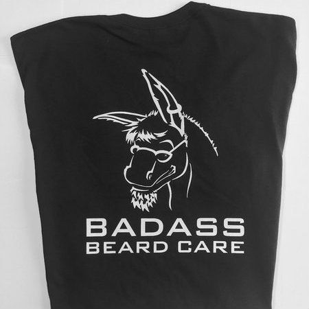 "Badass Beard Care - Badass Brand Shirt BLOCK Lettering, $20.00 (https://badassbeardcare.com/badass-brand-shirt-block-lettering/) Our Badass Brand shirt with ""Don't fear the beard"" across the chest and our logo with block lettering on the back."