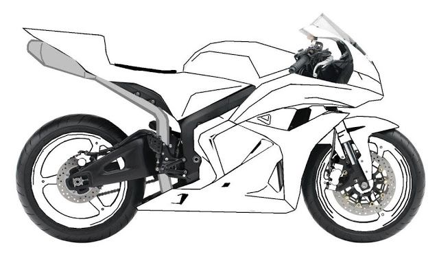 10 Mewarnai Gambar Motor Balap Bike Drawing Drawing For Kids Drawings