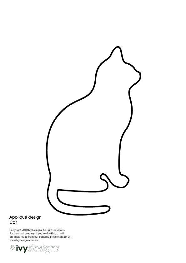 cat pattern outline quilting info pinterest cat patterns