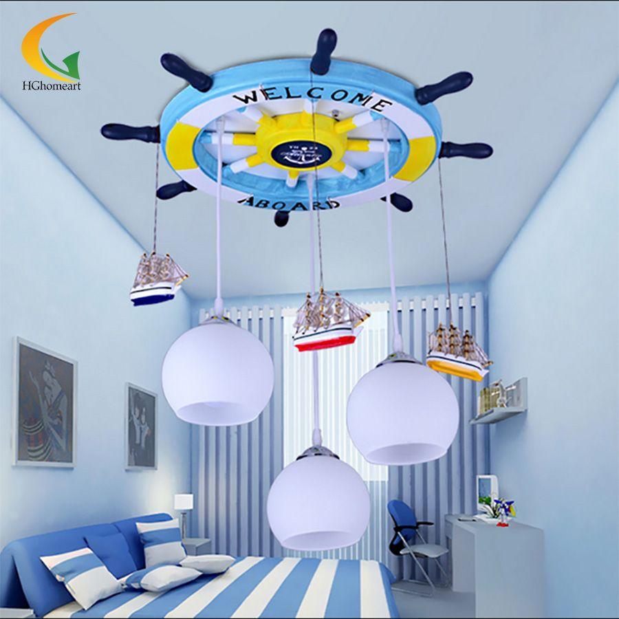 Mediterranean baby room pendant lights led acrylic head pendant