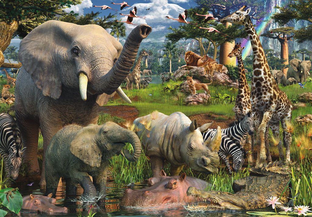 403 Forbidden Dschungeltiere Ausgestopftes Tier Puzzle