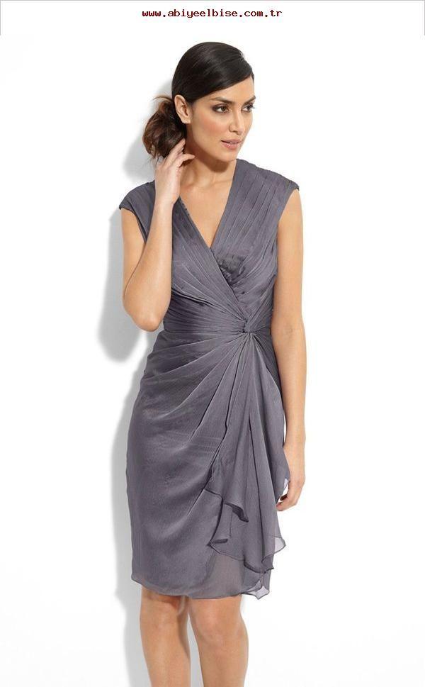 Faux Wrap Chiffon Dress Kleider Fur Die Mutter Des Brautigams Etikette Und Kiyafet Sifon Elbise Kadin Modasi Elbiseler