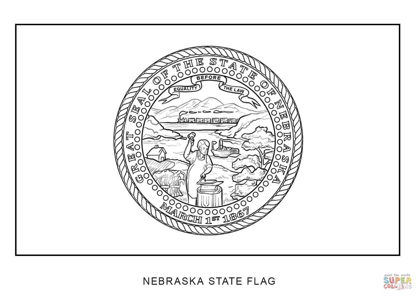 Coloring Pages Seal State Tennessee 2020 Flag Coloring