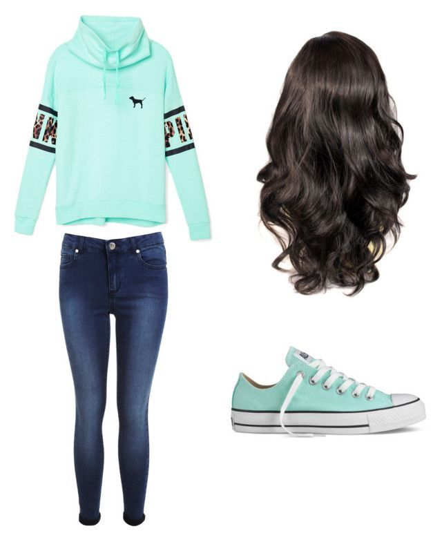Back To School Outfit | Blue Converse School Outfits And Curly