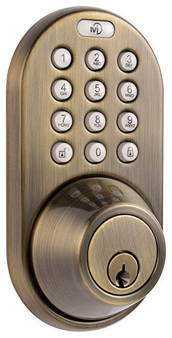 MiLocks DF-02AQ Electronic Keyless Entry Touchpad Deadbolt Door Lock Antique Brass  sc 1 st  Pinterest & MiLocks DF-02AQ Electronic Keyless Entry Touchpad Deadbolt Door Lock ...