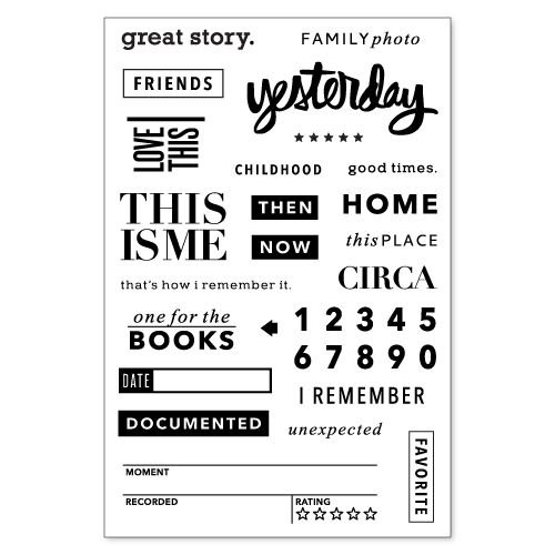 The History Project It S Here To Stay Project Life Stamps Stamp Clear Stamps