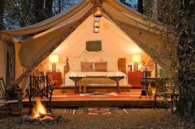 Gl&ing Glamorous C&ing but who is going to set up the tent? & How sweet it is. . . | Outdoor Living | Pinterest | Outdoor living ...