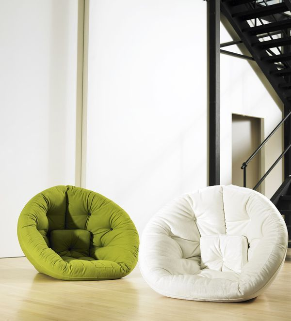 This would be amazing in a reading corner for kids!! Comfortable Nest Chairs  for