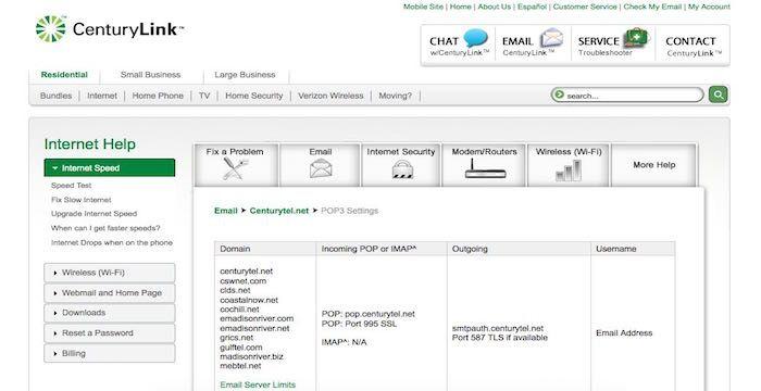 centurytel.net email log in
