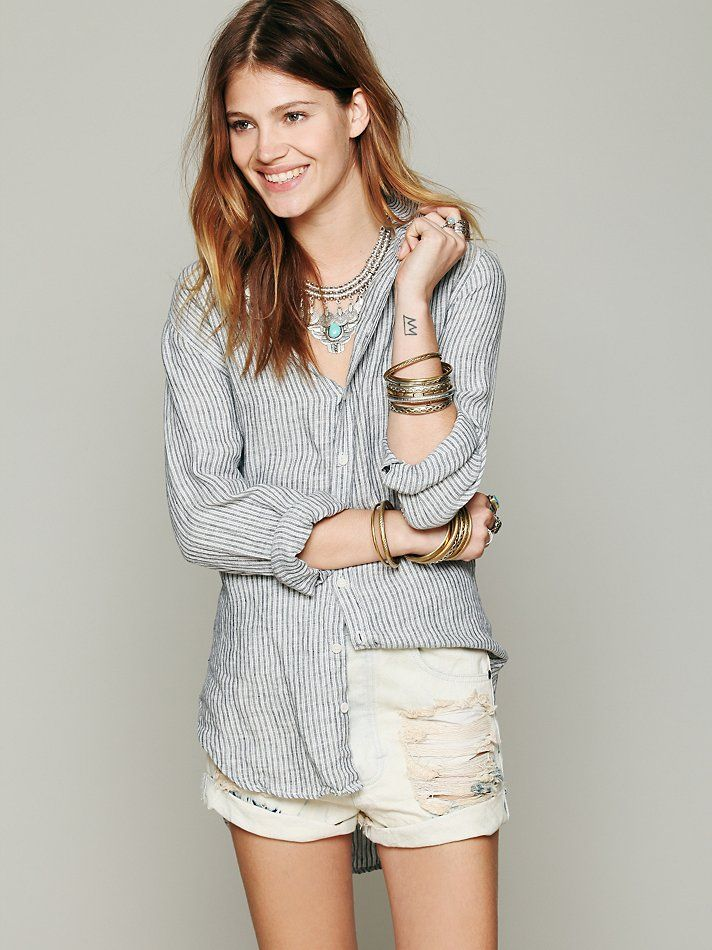 615347a6 CP Shades Stripe Button Down Tunic at Free People Clothing Boutique ...