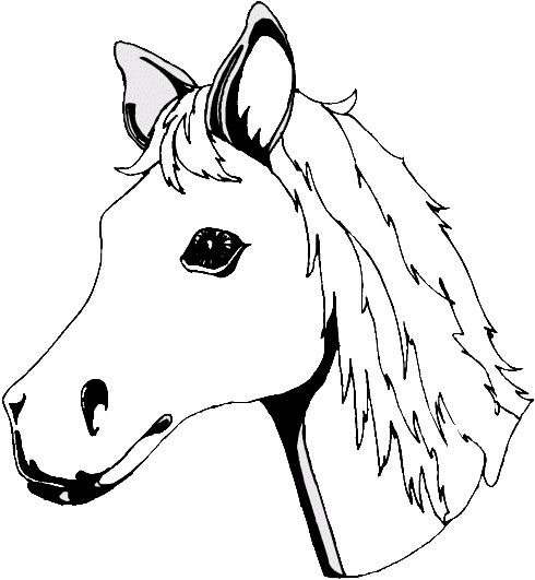 Cartoon Horse Head Outlines Google Search Horse Face Horse Coloring Pages Horse Coloring