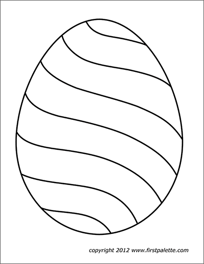 Easter Eggs Free Printable Templates Coloring Pages Firstpalette Com Easter Egg Template Easter Egg Painting Coloring Easter Eggs