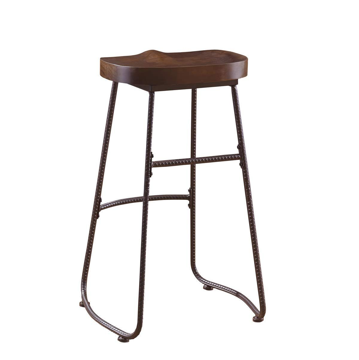 Oandk Furniture 30inch Retro Bar Stool Kitchen Chair Backless