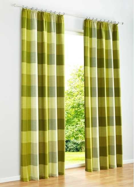 Vorhang  - gardinen wohnzimmer grun