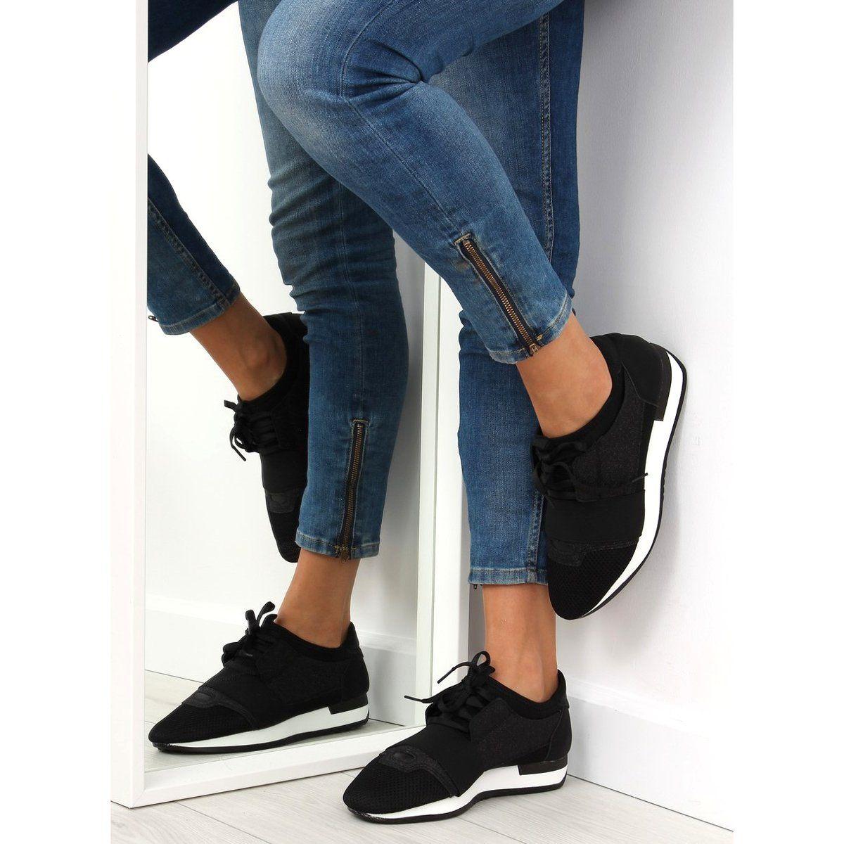 Buty Sportowe Czarne K1x063 Black Szare Suede Sneakers Sneakers Black Thick Tights