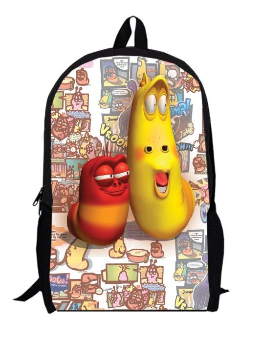 12inch larva Backpack for Boys and Girls Kids Cartoon women Bag children anime school bags men custom made