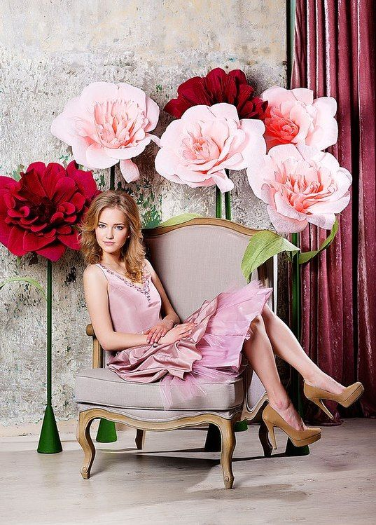 Big paper flowers flores de papel gigantes pinterest big paper big paper flowers mightylinksfo