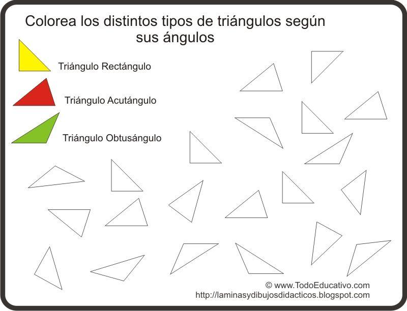 Resultado de imagen para actividades para dar triangulos segun sus ...