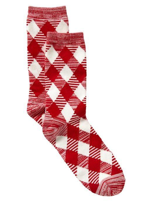 Striped argyle socks