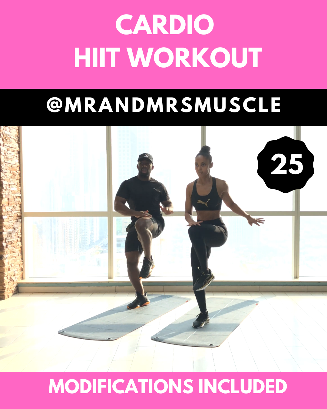 Cardio HIIT Workout - modifications included #cardioyoga