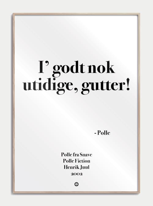 sjove danske citater Polle fra Snave postkort | Polle fra Snave | Poster sjove danske citater