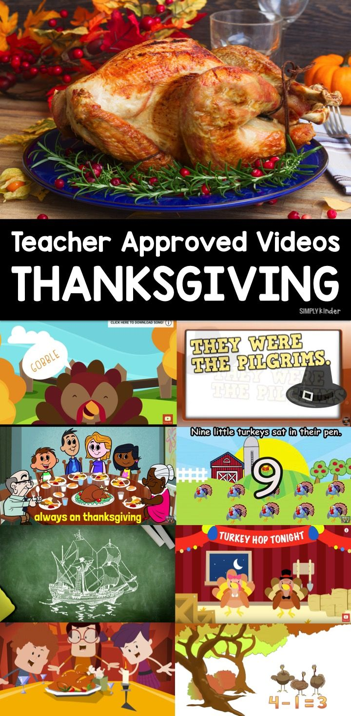 Teacher Approved Thanksgiving Videos - Simply Kinder
