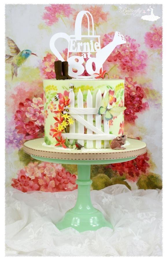 80th birthday cake  by Julie