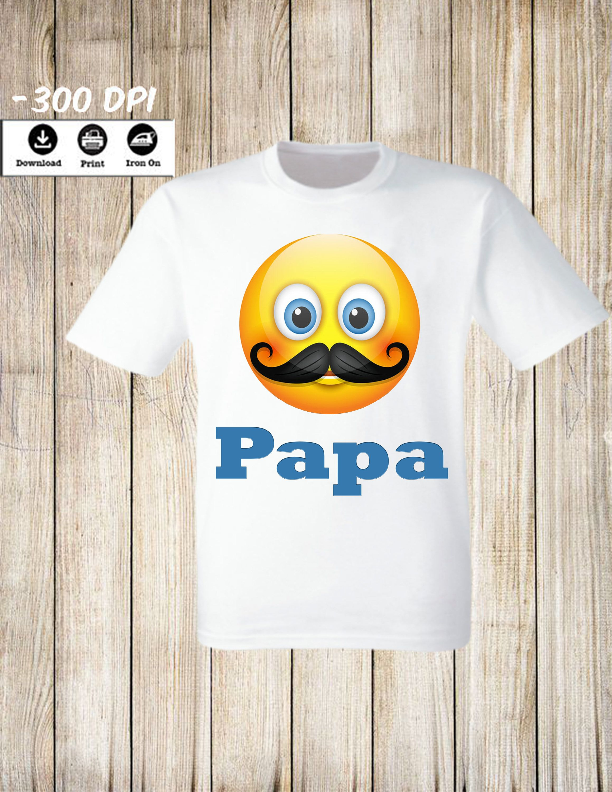 Emoji Papa Of The Birthday Girl Or Boy Iron On Transfer Personalized Shirt T Family Set By