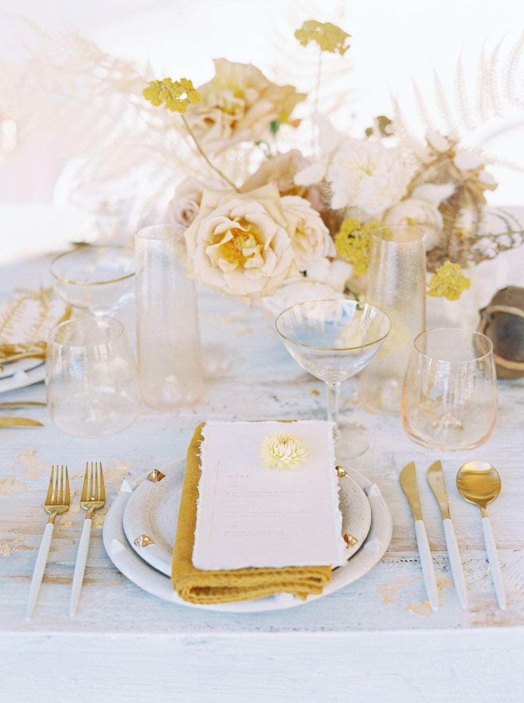 Golden-Toned Wedding Inspiration with a Stunning Yellow Dress at Malibu Rocky Oaks
