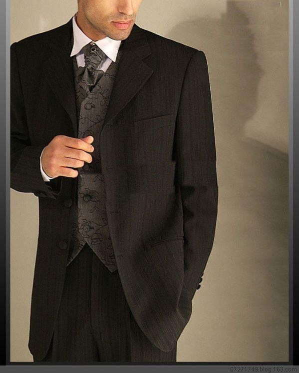 Black Wedding Suits Suit For Men Western Style Groom Wear Dropshipping Almost