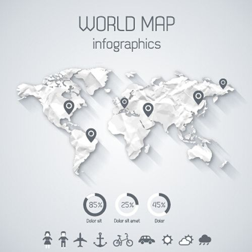 Creative world map and infographics vector graphics free vector in creative world map and infographics vector graphics free vector in publicscrutiny Image collections